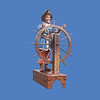 Pirate with Ship's Wheel, 6'H #8048