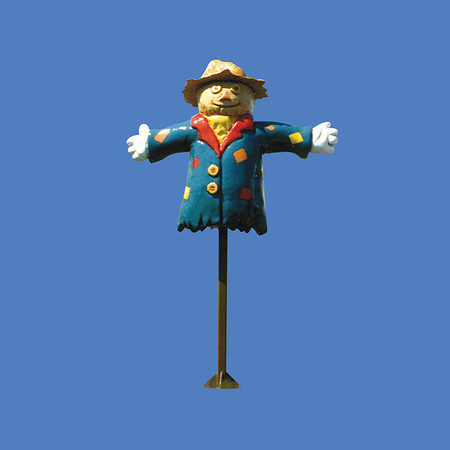 Scarecrow on Pole, 6'H  #8055