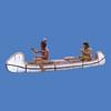 Native American & Trapper in Canoe #6016