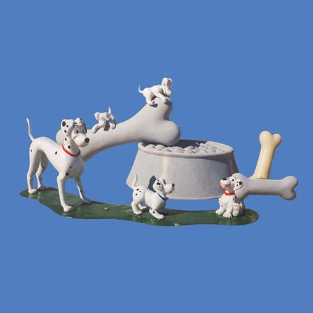 Dalmatian, Large  #7214<br /> Dalmatian, Small  #7215<br /> Dog Bone, 3'L  #6030<br /> Dog Bone, 7'L  #6031