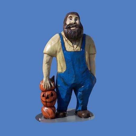 Carved Wood Man, 6'H #8098