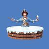 Pirate in Tub #8042