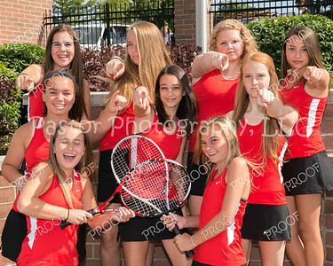 CHS Girls JV Tennis Fun