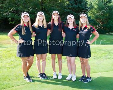 Golf Girls Returning Letter Winners