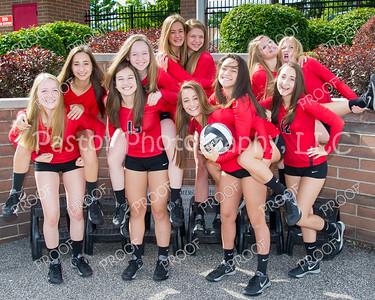 Volleyball JV Team Fun