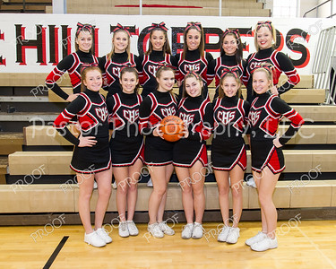 Cheerleaders Varsity BBall