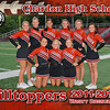 CHS Varsity FB Cheer 5x7 border