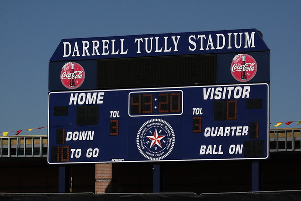 Warm-ups--Tully Stadium