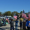 The Patriot Guard escorted the family to their new home.