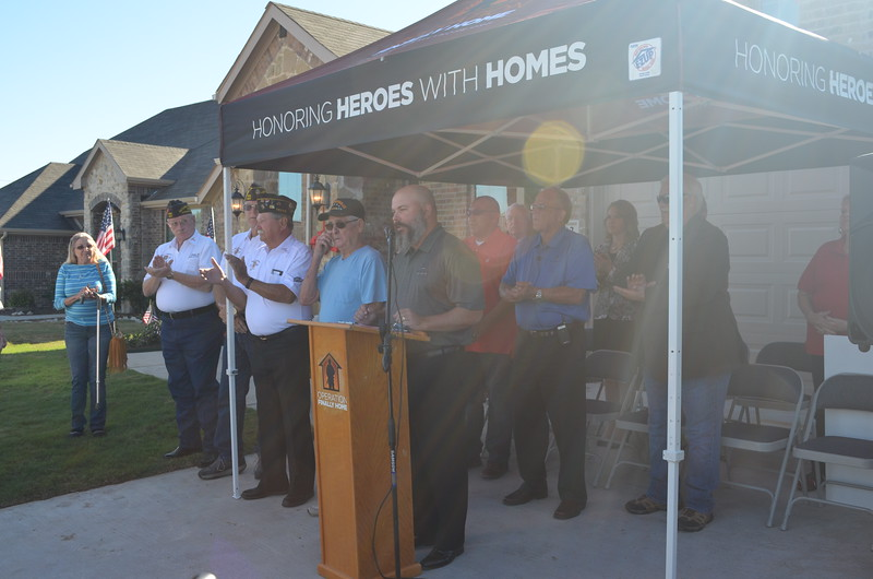Justin Webb talks about how privileged his company, Altura Homes is to build this how for Sgt. Rivas and his family.
