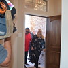 Rivas family seeing their new home for the first time.