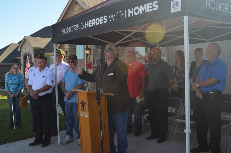 Ronnie Lyles spoke on behalf of Operation FINALLY HOME.