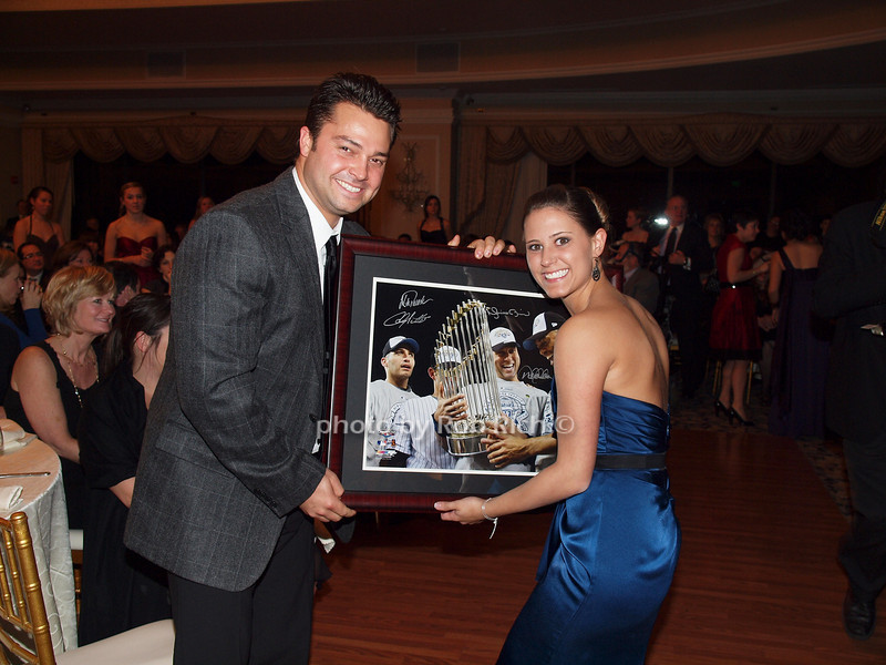 January 7: New York Yankee Nick Swisher and Brittany Pagnotta attend the A MIDWINTER NIGHT'S DREAM RECOGNIZES HEROES FOR HOPE AT the Oheka Castle in Huntington on January 7, 2009.<br /> photo by Rob Rich © 2009 robwayne1@aol.com 516-676-3939