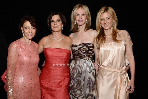 Evelyn Lauder, Marcia Gay Harden, Jeanne Siegel, Cynthia Lufkin<br /> photo by Rob Rich © 2010 robwayne1@aol.com 516-676-3939