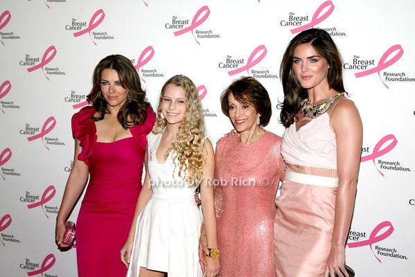 Elizabeth Hurley, Danielle Lauder, Evelyn Lauder, Hilary Rhoda<br /> <br /> photo by R.Cole for Rob Rich © 2010 robwayne1@aol.com 516-676-3939