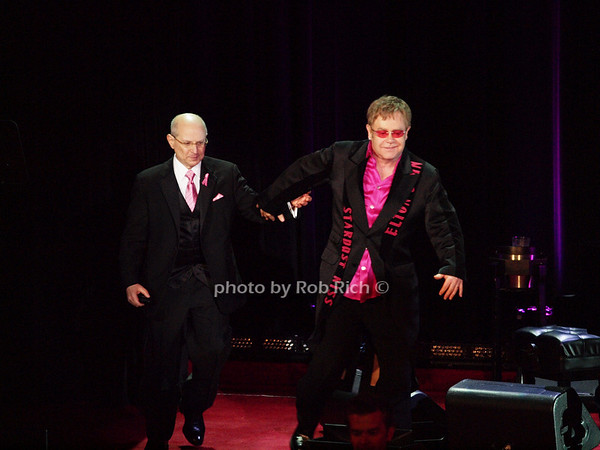 Dr. Larry Norton, Elton John<br /> photo by Rob Rich © 2010 robwayne1@aol.com 516-676-3939