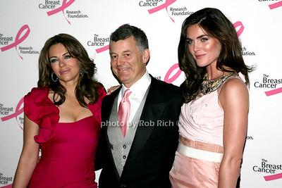 Elizabeth Hurley, William Lauder, Hilary Rhoda  photo by R.Cole for Rob Rich © 2010 robwayne1@aol.com 516-676-3939