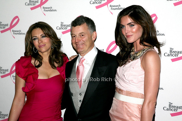 Elizabeth Hurley, William Lauder, Hilary Rhoda<br /> <br /> photo by R.Cole for Rob Rich © 2010 robwayne1@aol.com 516-676-3939