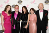 Elizabeth Hurley, Elton John, Tamara Mellon, Evelyn Lauder, Leonard Lauder<br /> photo by Rob Rich © 2010 robwayne1@aol.com 516-676-3939