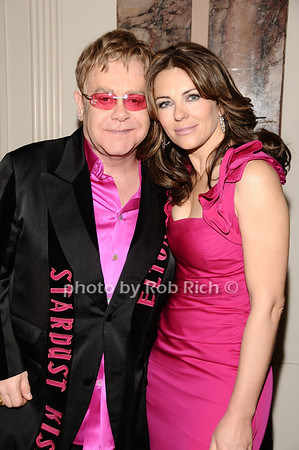 Elton John, Elizabeth Hurley<br /> photo by Rob Rich © 2010 robwayne1@aol.com 516-676-3939