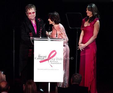 Elton John, Evelyn Lauder, Elizabeth Hurley