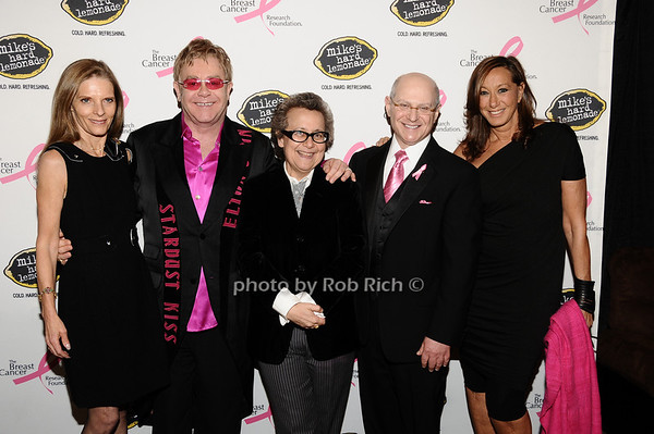 guest, Elton John, Ingrid Sishy, Dr.Larry Norton, Donna Karan<br /> photo by Rob Rich © 2010 robwayne1@aol.com 516-676-3939