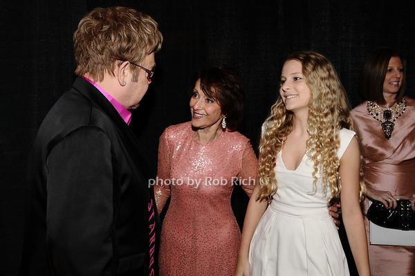 Elton John, Evelyn Lauder, Danielle Lauder<br /> photo by Rob Rich © 2010 robwayne1@aol.com 516-676-3939