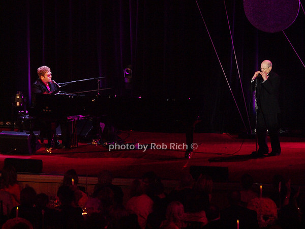 Elton John, Dr.Larry Norton<br /> photo by Rob Rich © 2010 robwayne1@aol.com 516-676-3939