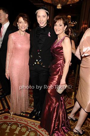 Evelyn Lauder, Johnny Weir, Myra Biblowit<br /> photo by Rob Rich © 2010 robwayne1@aol.com 516-676-3939