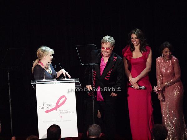 Bette Midler, Elton John, Elizabeth Hurley, Evelyn Lauder <br /> photo by Rob Rich © 2010 robwayne1@aol.com 516-676-3939