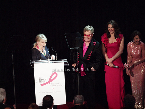 Bette Midler, Elton John, Elizabeth Hurley, Evelyn Lauder <br /> photo by Rob Rich © 2010 robwayne1@aol.com 516-676-3939