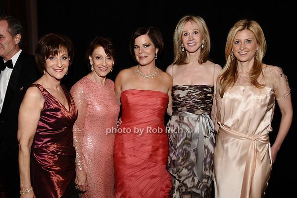 Myra Biblowit, Evelyn Lauder, Marcia Gay Harden, Jeanne Siegel, Cynthia Lufkin<br /> photo by Rob Rich © 2010 robwayne1@aol.com 516-676-3939