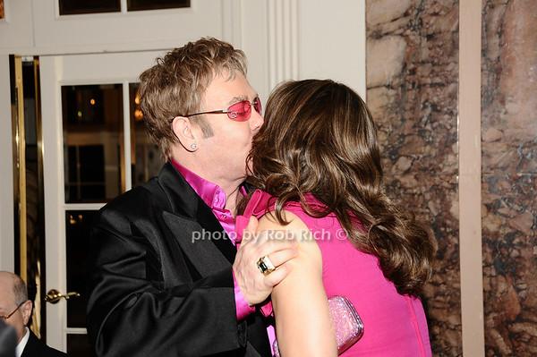 Elton John, Elizabeth Hurley<br /> photo by Rob Rich © 2010 robwayne1@aol.com 516-676-3939