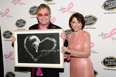 Elton John, Evelyn Lauder photo by Rob Rich © 2010 robwayne1@aol.com 516-676-3939