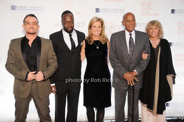 Bono, Wyclef Jean, Kerry Kennedy, Harry Belafonte, Pam Belafante