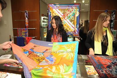 Ashley Ramiera displays a Hermes scarf photo by Rob Rich/SocietyAllure.com © 2014 robwayne1@aol.com 516-676-3939