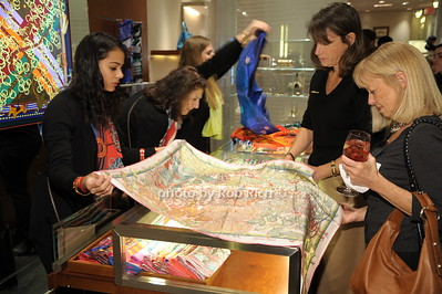 Ashley Ramiera displays a Hermes scarf photo by Rob Rich/SocietyAllure.com © 2014 robwayne1@aol.com 516-676-3939