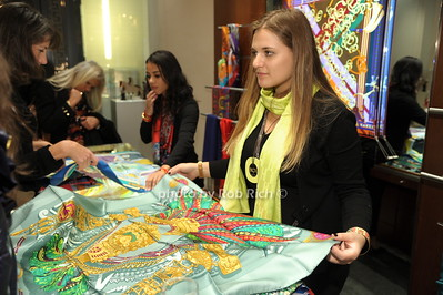 Paige Gremellion displays a Hermes scarf photo by Rob Rich/SocietyAllure.com © 2014 robwayne1@aol.com 516-676-3939