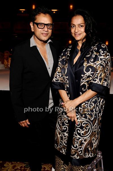 Naeem Kahn, Ranjana Kahn<br /> photo by Rob Rich © 2010 robwayne1@aol.com 516-676-3939