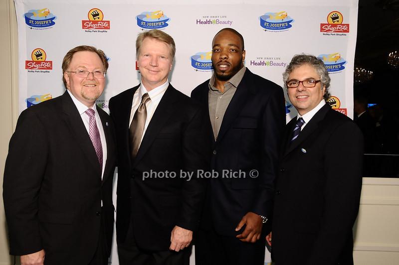 Tim Barr, Phil Simms, Calvin Pace, Dr.Michael Lamacchia<br /> <br /> photo by Rob Rich © 2010 robwayne1@aol.com 516-676-3939