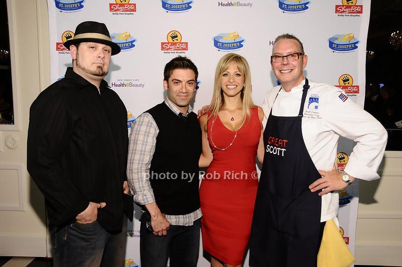 Mike Carrino, Brian DePersio, Dina Manzo, Scott Cutaneo<br /> <br /> photo by Rob Rich © 2010 robwayne1@aol.com 516-676-3939