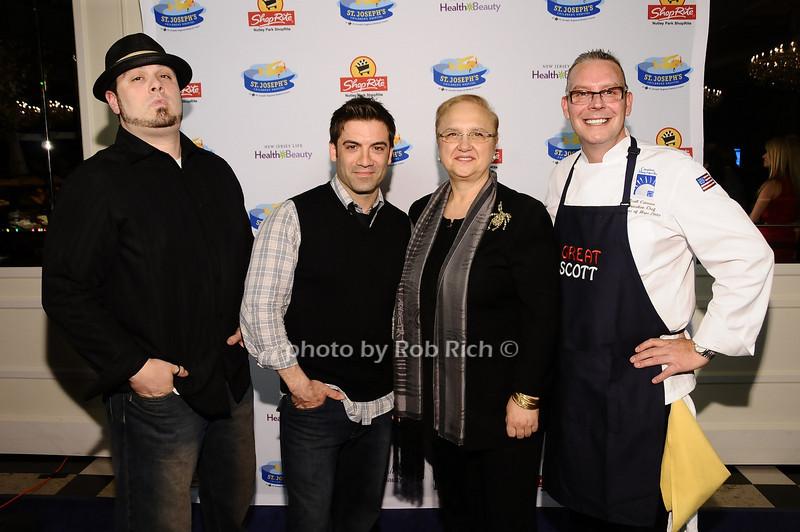 Mike Carrino, Brian DePersio, Lidia Bastianich, Scott Cutaneo<br /> <br /> photo by Rob Rich © 2010 robwayne1@aol.com 516-676-3939
