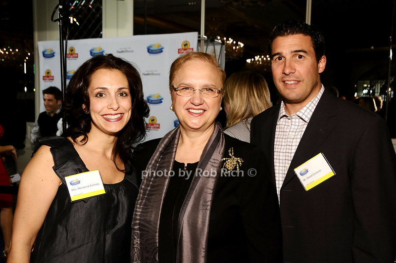 Marianna Emmolo, Lidia Bastianich, David Emmolo<br /> <br /> photo by Rob Rich © 2010 robwayne1@aol.com 516-676-3939