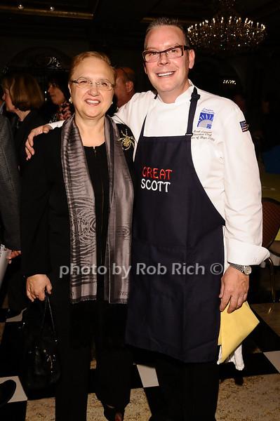 Lidia Bastianich, Scott Cutaneo<br /> <br /> photo by Rob Rich © 2010 robwayne1@aol.com 516-676-3939