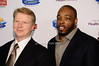 Phil Simms, Calvin Pace <br /> <br /> photo by Rob Rich © 2010 robwayne1@aol.com 516-676-3939