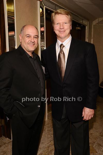 John DiGiovanni, Phil Simms<br /> <br /> photo by Rob Rich © 2010 robwayne1@aol.com 516-676-3939
