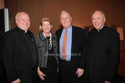 Father West, Helen Fell, Keith Fell, Monsignor Fagan photo by Rob Rich © 2009 robwayne1@aol.com 516-676-3939