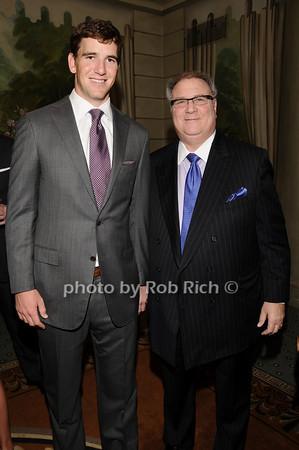 Eli Manning, Alan Rosenberg<br /> photo by Rob Rich © 2010 516-676-3939 robwayne1@aol.com
