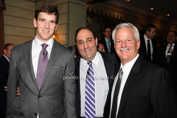 Eli Manning, Steven Greico,Pat Losey<br /> photo by Rob Rich © 2010 516-676-3939 robwayne1@aol.com