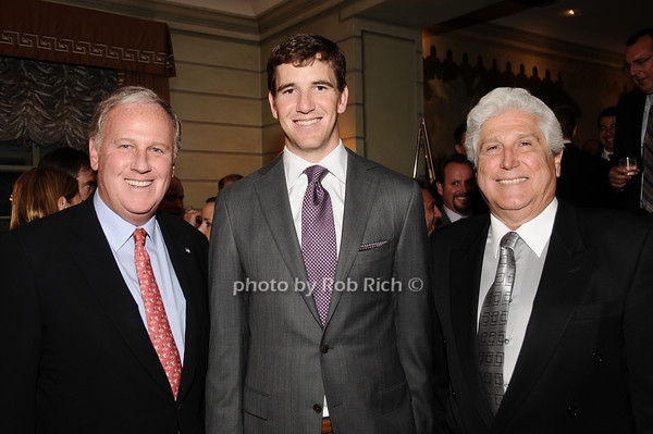Keith Fell, Eli Manning, Joe Pontarelli<br /> photo by Rob Rich © 2010 516-676-3939 robwayne1@aol.com